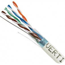 CAT6 Shielded 24AWG Stranded CM RATED STP 1000FT Spool