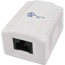 1 Port Surface Mount Box with Cat5e Jack