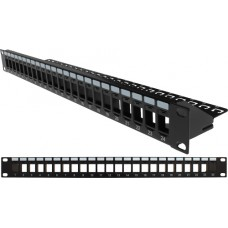 1U 24 Port Space Saver Blank Panel
