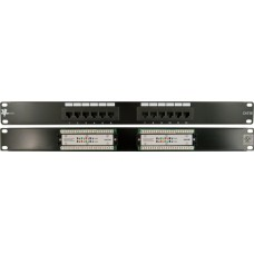 Cat5E 12 Port 110-IDC Patch Panel, 1xEIA Unit (UL)