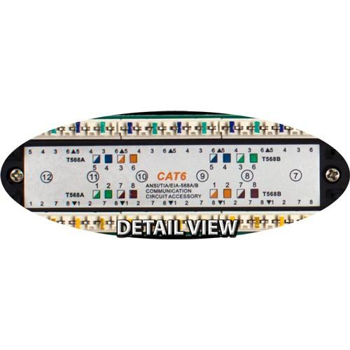 042 376 12 Cat6 12 Port Rj45 High Speed Network 110 Idc