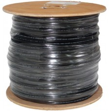CAT6 CMXF Direct Burial,1000FT 23AWG, GEL-Filled, Flooded Core, Black, Wooden Spool