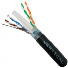 CAT6A, CMXT, Direct Burial, LLDPE Jacket, Shielded, Dual Jacket, 23AWG, Black, 1000ft, Wooden Spool