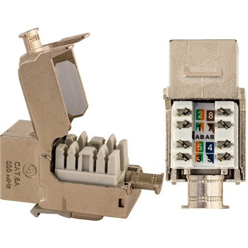 303 J2637 C6as Cat6a Shielded Keystone Jack